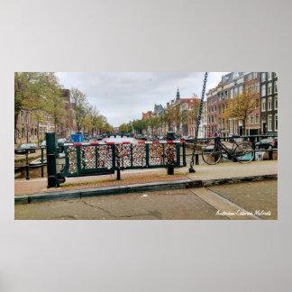 Amsterdam Nederländerna som kärlek låser, Poster