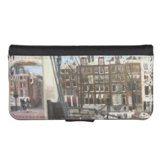 Amsterdam överbryggar, och kanalen inhyser konst plånboksfodral för iPhone SE/5/5s