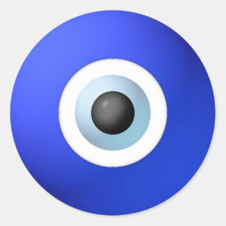 Amulett som ska avvärjas av det onda ögat runt klistermärke