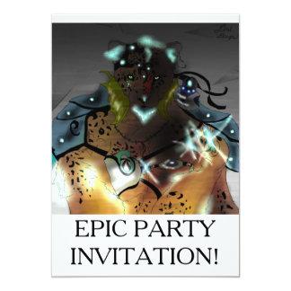 Amur isMage episkt party Invatations 12,7 X 17,8 Cm Inbjudningskort