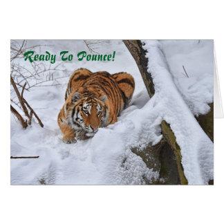 Amur tigerjulkort 2015 hälsningskort