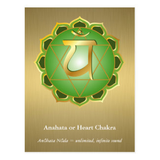 Anahata eller hjärtaChakra vykort