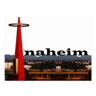 Anaheim CA horisont med Anaheim i himmlen Vykort