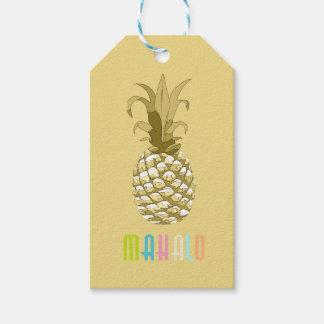 Ananas guld- Mahalo ID239 Presentetikett