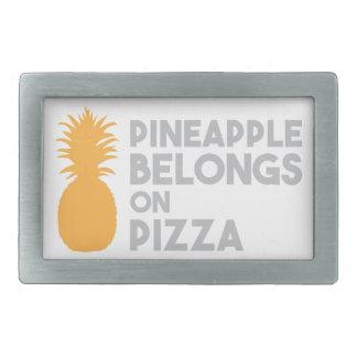 Ananas hör hemma på Pizza