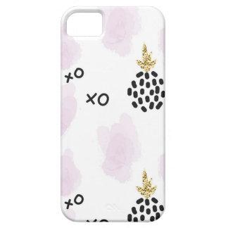 Ananas och rosa leopardtryck. XOXO iPhone 5 Case-Mate Skal