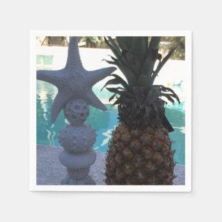 Ananas- och sjöstjärnaparty servett
