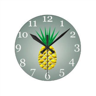Ananas Rund Klocka