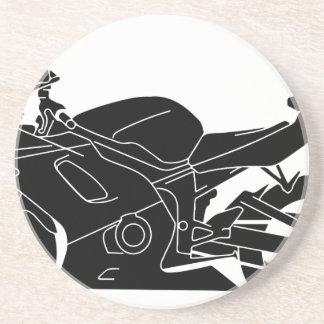 ananas-silhouette-motorcykel underlägg sandsten