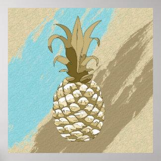 Ananas skuggar guld och slösar ID239 Poster
