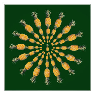 ananasfruktmandala poster