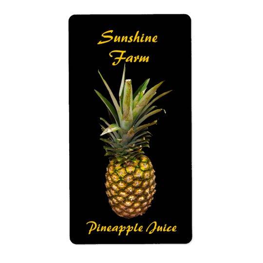 Ananasfruktsaftetiketter Fraktsedel