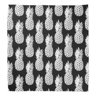 Ananastryckbandana - svart neckerchief scarf
