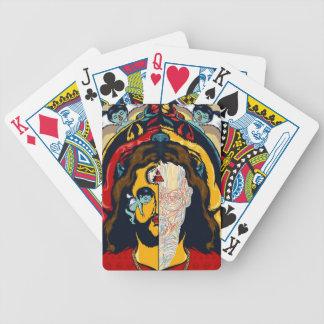 Anatomi av Jesus som leker kort Spelkort