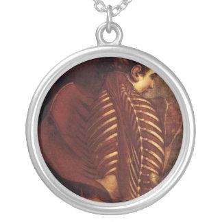 Anatomi/Skeletal av det kvinnliga tillbaka Halsband Med Rund Hängsmycke