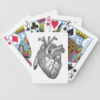 Anatomical hjärta för vintage spelkort