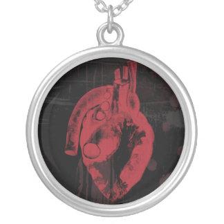 Anatomical hjärtahalsband silverpläterat halsband