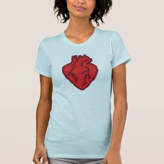 anatomically korrekt hjärta 8bit tshirts
