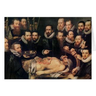 Anatomikursen av skåpbilder för doktor Willem Hälsningskort
