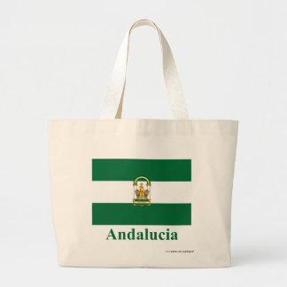 Andalucía flagga med namn jumbo tygkasse