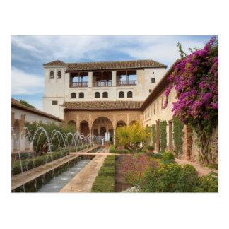 Andalusia - Generalife av den Alhambra vykortet Vykort