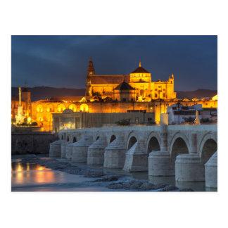 Andalusia - Mezquita på solnedgångvykortet Vykort