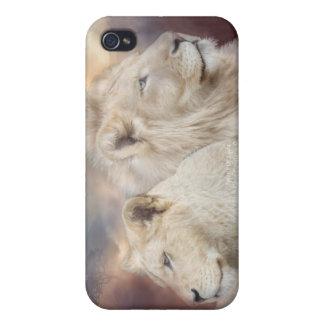 Andar av Ljus-Vit det lejona konstfodral för iPhone 4 Cover