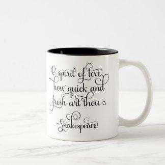Ande av kärlek, hur ny thoukonst - Shakespeare Två-Tonad Mugg