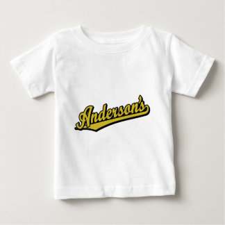 Andersson i guld tee shirts