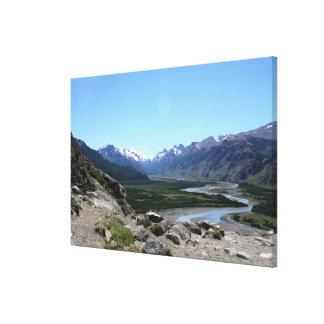 Andes spänner, Patagonia Canvastryck