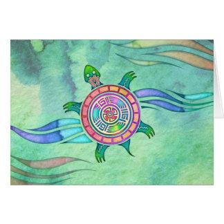 Andesköldpadda tomma Notecard OBS Kort