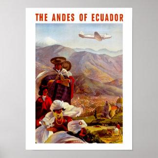 Andesna av Ecuador Poster