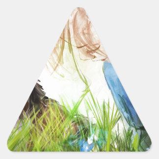 andestillbilden har något för att oss ska upptäcka triangelformat klistermärke