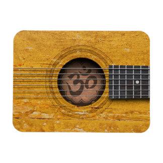 Andlig gitarr för gammal vintage med Om-symbol Rektangulär Magnet