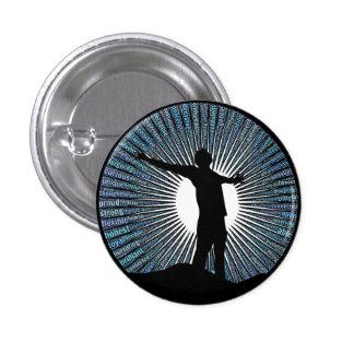 Andlig knäppas, Zenmaninspiration Mini Knapp Rund 3.2 Cm