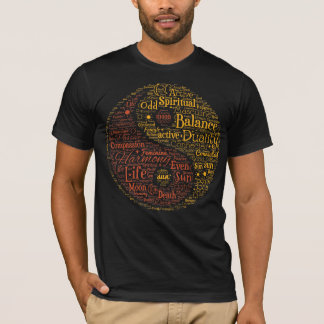 Andlig Yin Yang ordkonst T-shirts