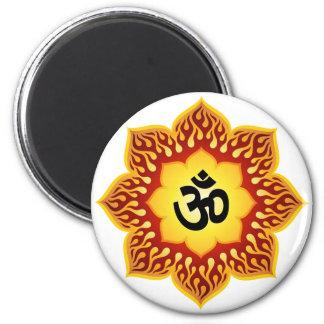 Andliga lotusblommar Om planlägger Magnet Rund 5.7 Cm