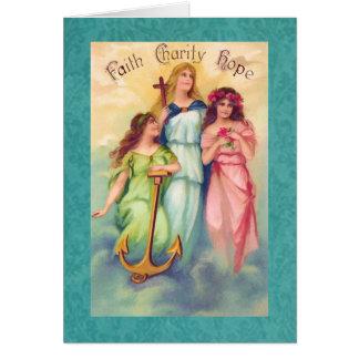 Andligt kärlekuttryckskort hälsningskort
