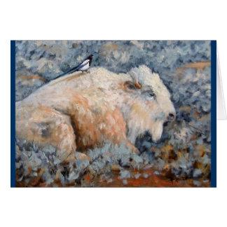 Andligt kort för vitbuffelkonst