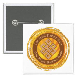 Ändlös fnurra för tibetan Mantra Standard Kanpp Fyrkantig 5.1 Cm