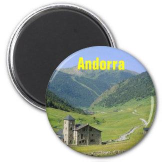 Andorra magnet magnet rund 5.7 cm