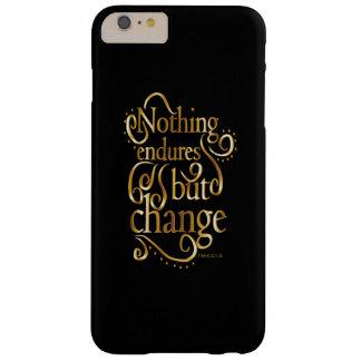 Ändra Motivational citationsteckenguld på svart Barely There iPhone 6 Plus Skal