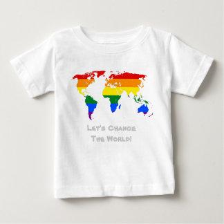 Ändra världsgay prideT-tröja Tee Shirt