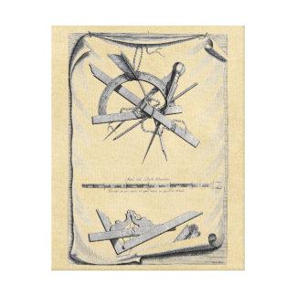 Andrea Palladio skissningverktyg Canvastryck