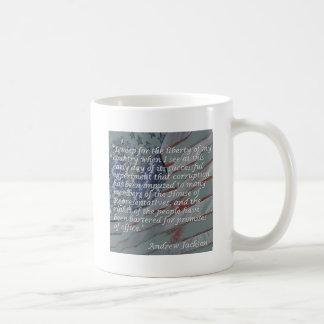 Andrew Jackson citationstecken - jag gråter för Kaffemugg
