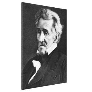 ANDREW JACKSON Daguerreotype av Mathew Brady Canvastryck