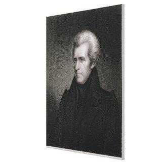 Andrew Jackson (gravyr) Canvastryck