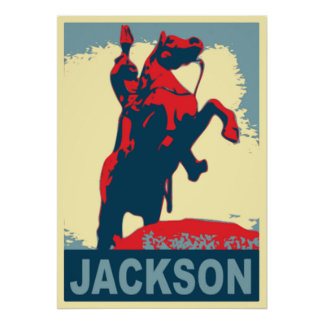 Andrew Jackson staty New Orleans Poster