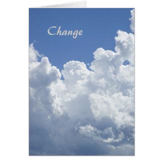 Ändring: Ett Motivational mallkort Hälsningskort