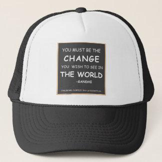 Ändring-Värld-Gandhi Keps